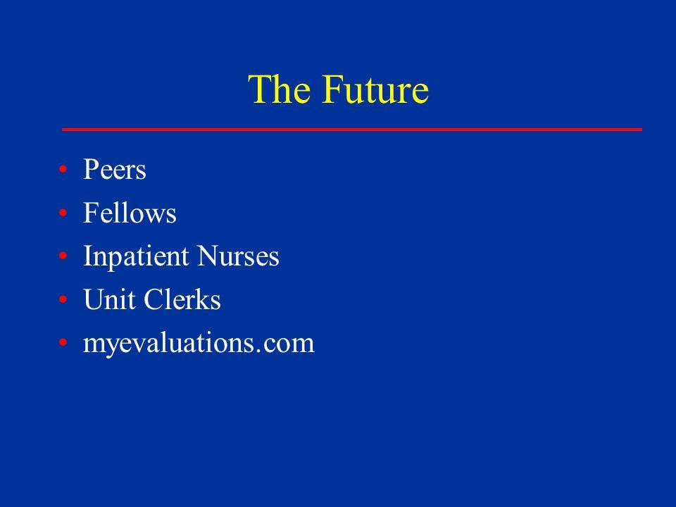 The Future Peers Fellows Inpatient Nurses Unit Clerks myevaluations.com