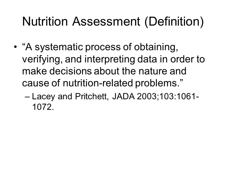 NCP Example: Acute Care Nutrition Assessment Medical hx: 72 y.o.