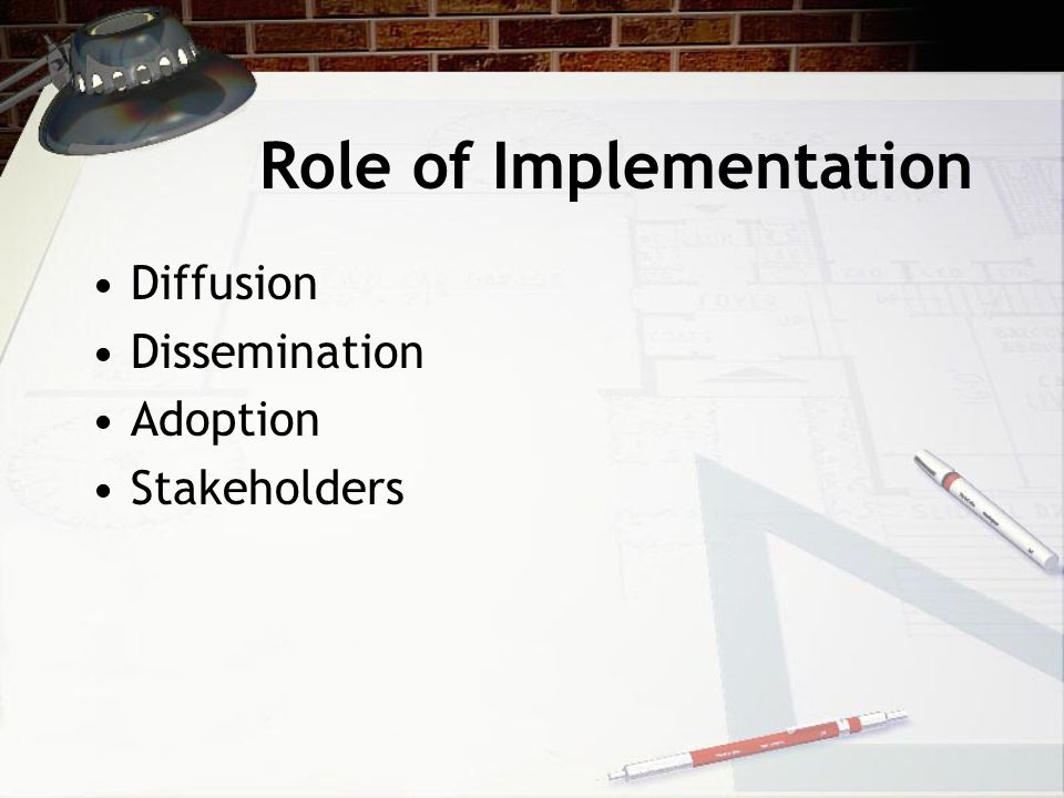 Role of Implementation Diffusion Dissemination Adoption Stakeholders