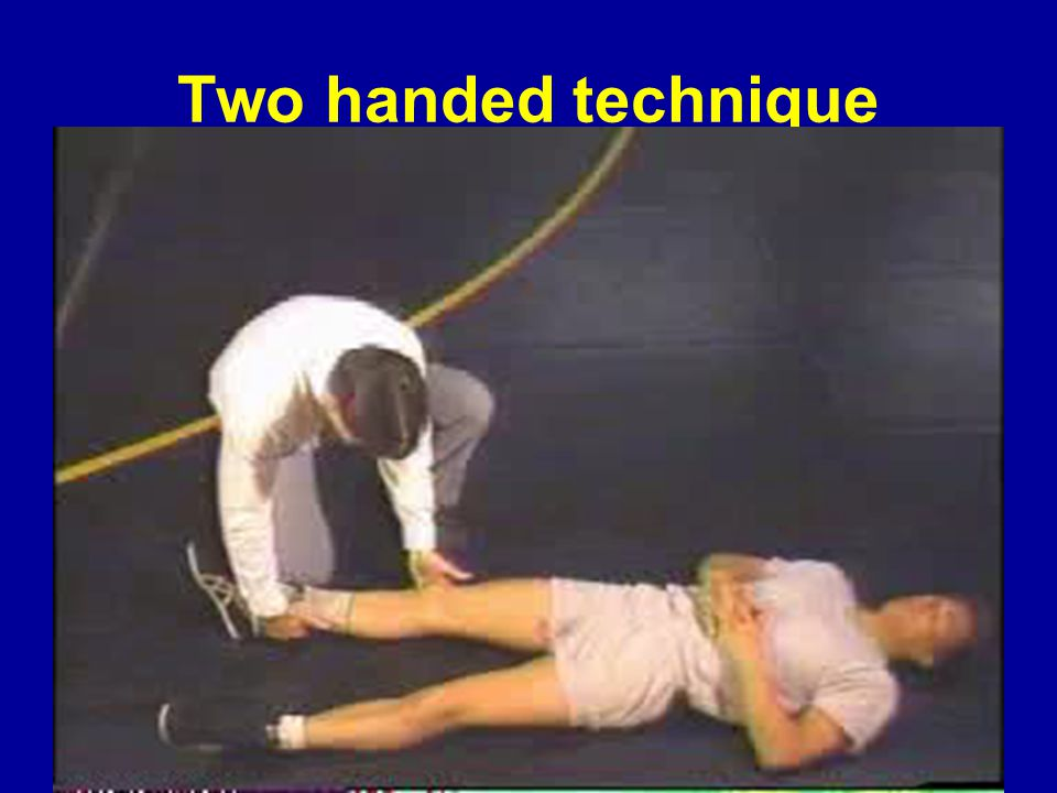 Two handed technique