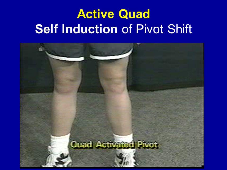 Active Quad Self Induction of Pivot Shift