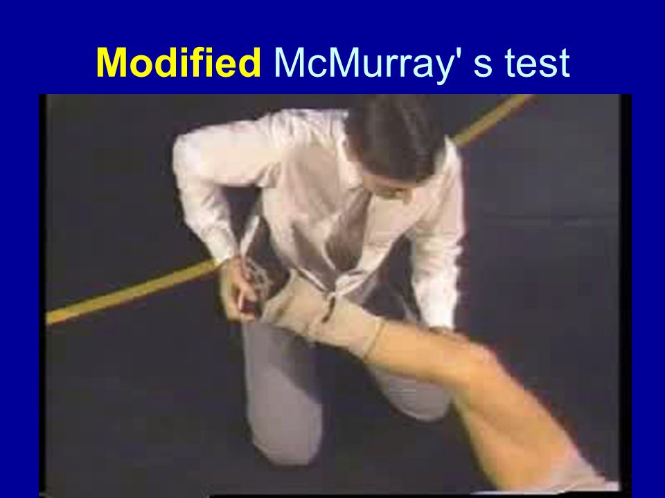 Modified McMurray s test