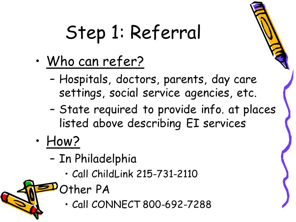 Step 1: Referral Who can refer.