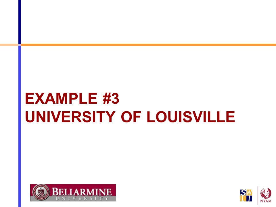EXAMPLE #3 UNIVERSITY OF LOUISVILLE