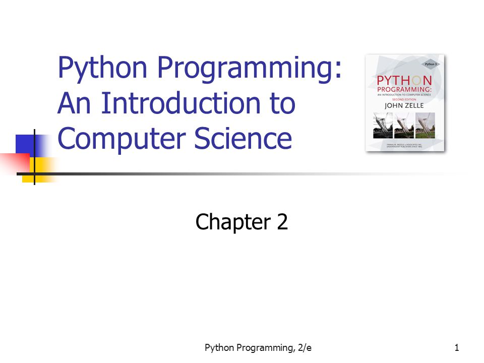 Python Programming, 2/e22 Elements of Programs Output Statements A print statement can print any number of expressions.