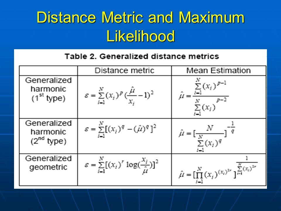 Distance Metric and Maximum Likelihood