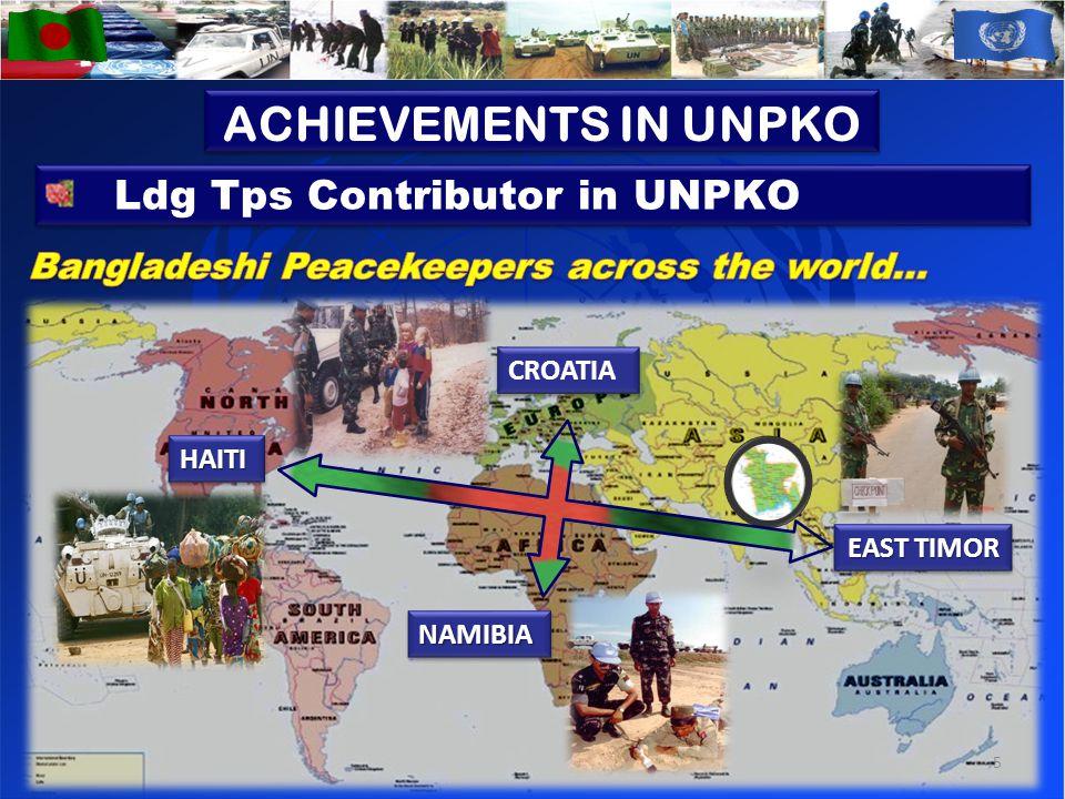 HAITIHAITI NAMIBIANAMIBIA EAST TIMOR CROATIA Ldg Tps Contributor in UNPKO 5