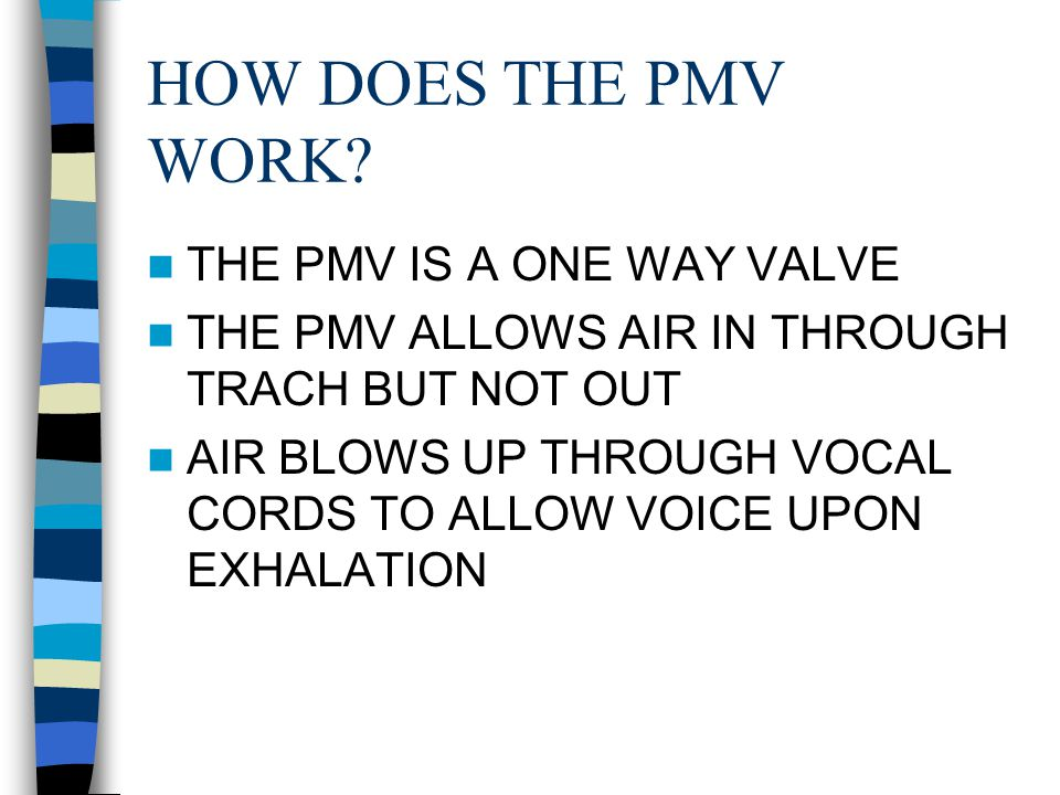 HOW DOES THE PMV WORK.