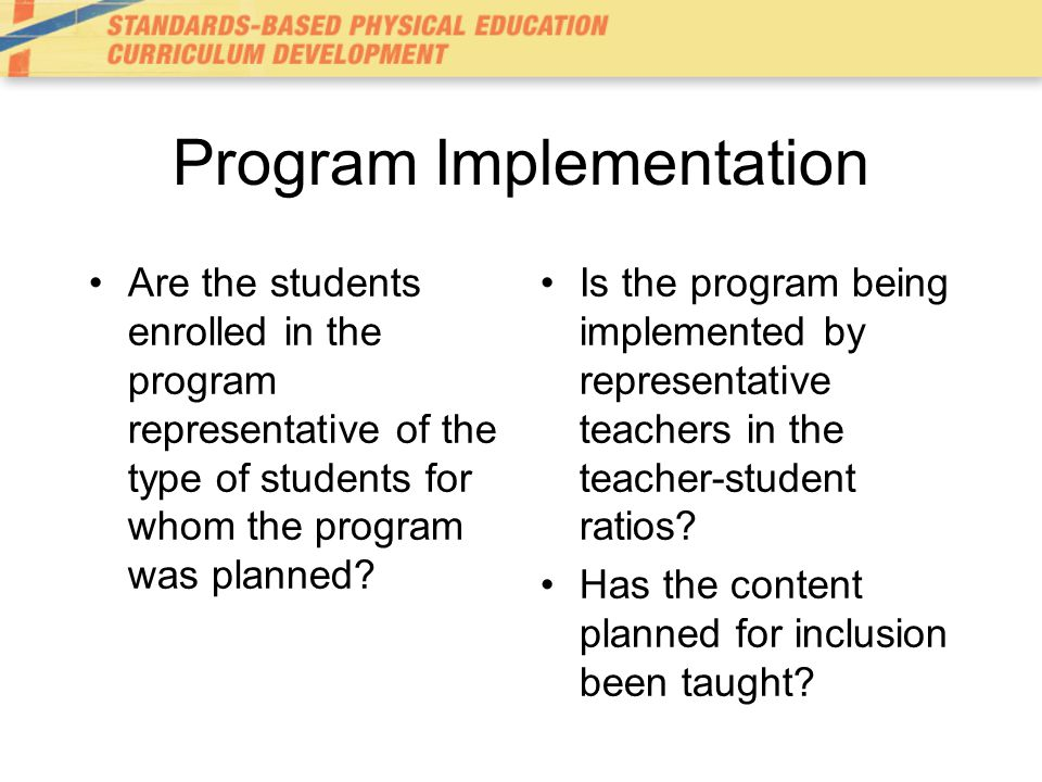 Program Effectiveness Program evaluation seeks to describe the number of students who are making gains on the program objectives –Evaluation of the program is merely an extension of the evaluation of individual students