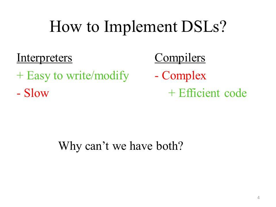 How to Implement DSLs.