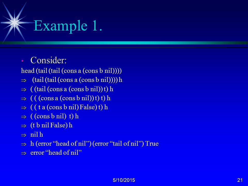5/10/201521 Example 1.