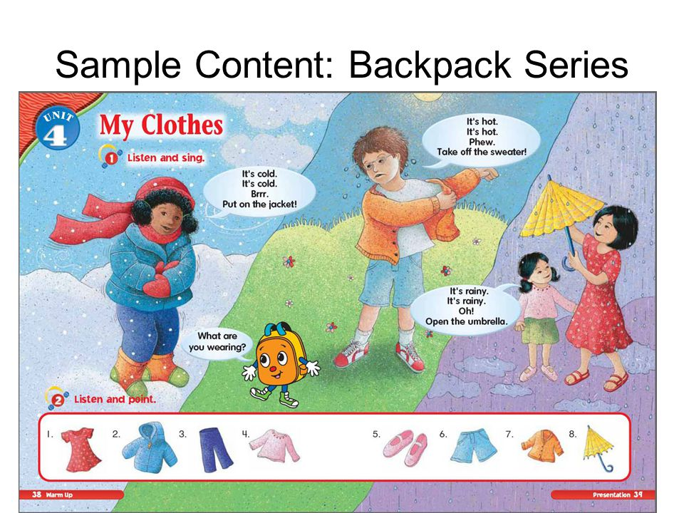 Sample Content: Backpack Series
