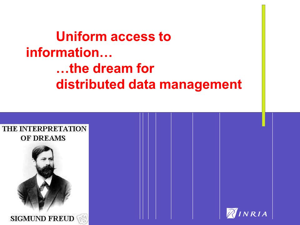 15 Uniform access to information… …the dream for distributed data management