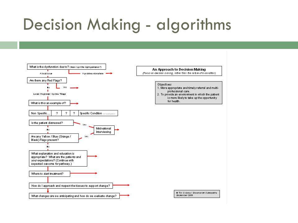 Decision Making - algorithms