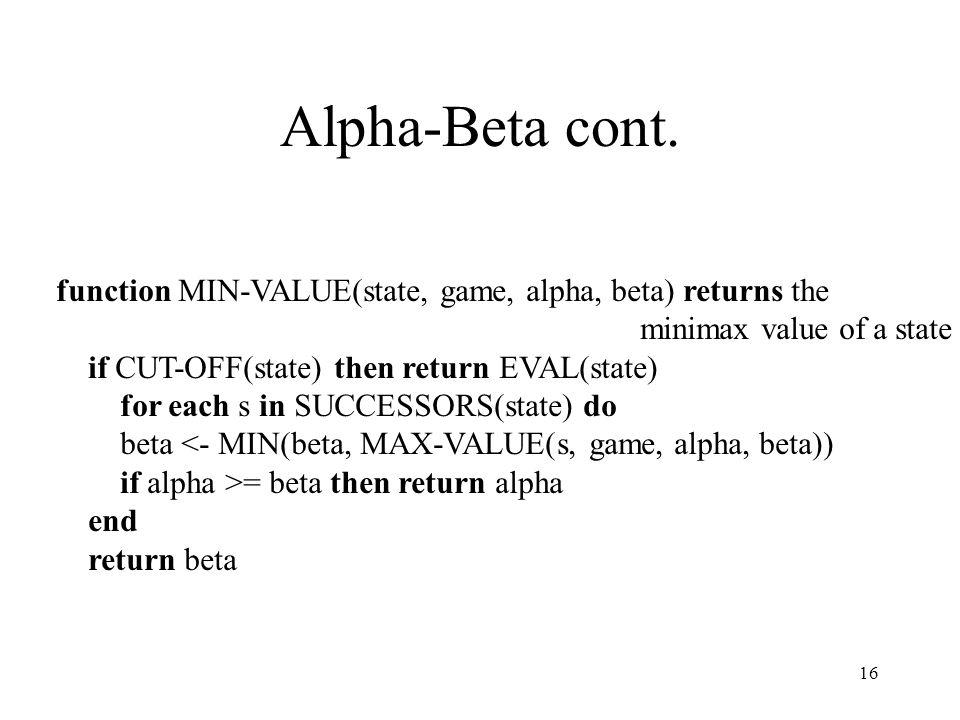 16 Alpha-Beta cont.