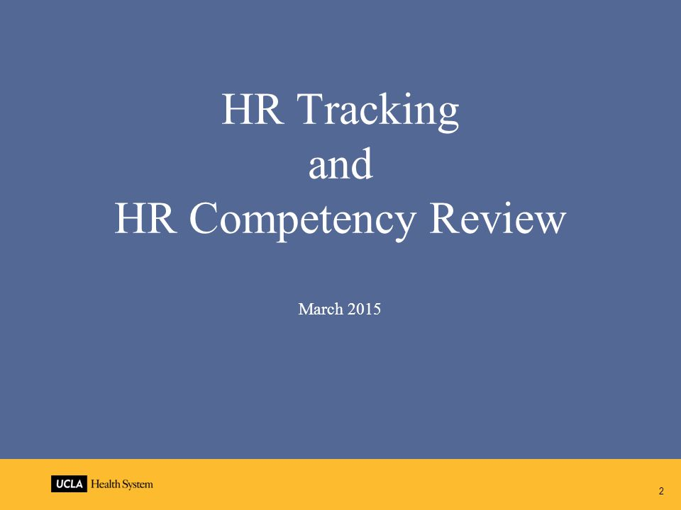 HR Tracking and HR Competency Review March 2015 2