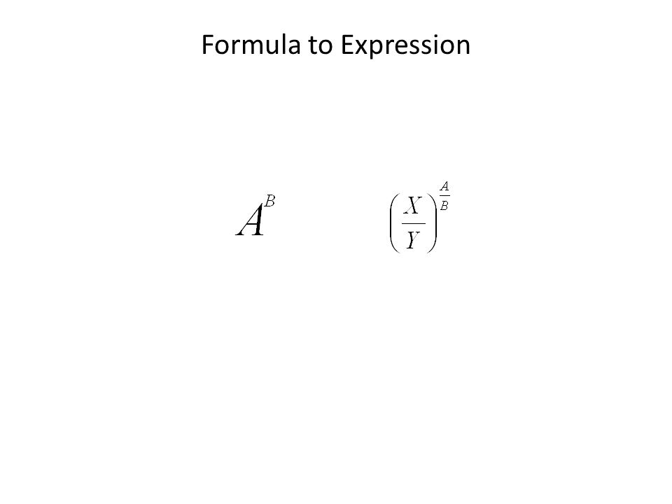 Formula to Expression