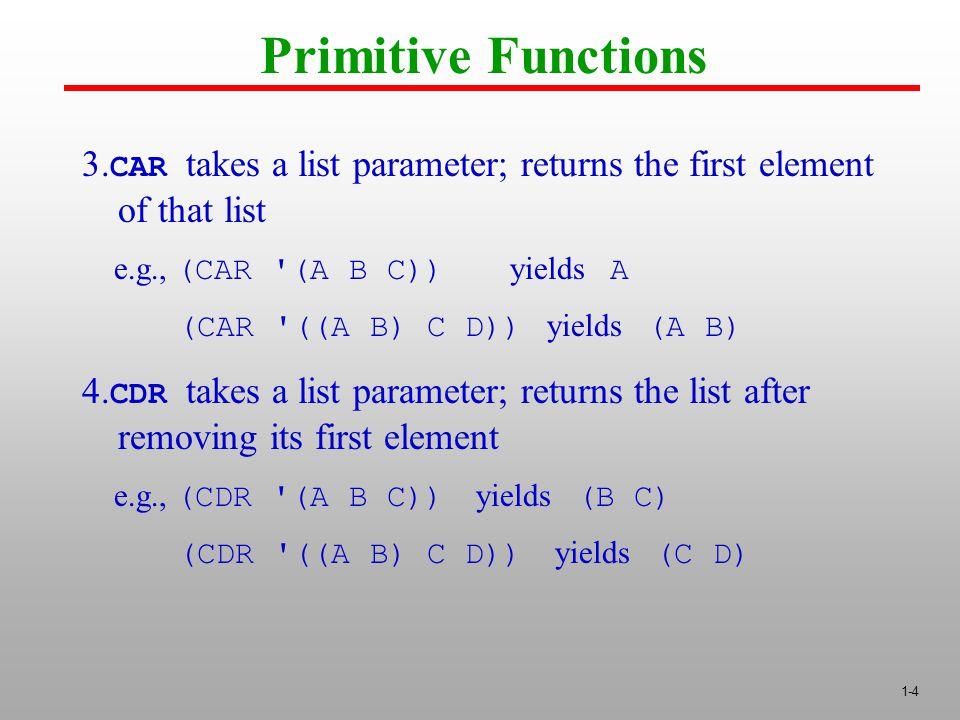 1-4 Primitive Functions 3.