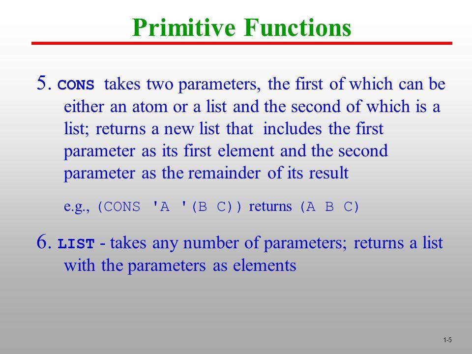 1-5 Primitive Functions 5.