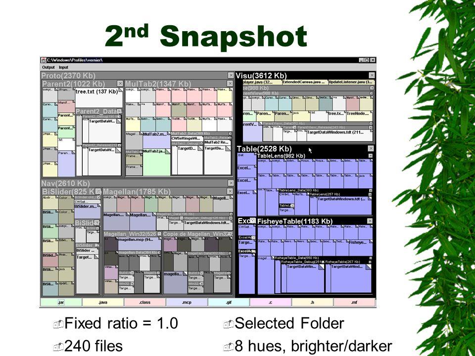 2 nd Snapshot  Fixed ratio = 1.0  240 files  Selected Folder  8 hues, brighter/darker