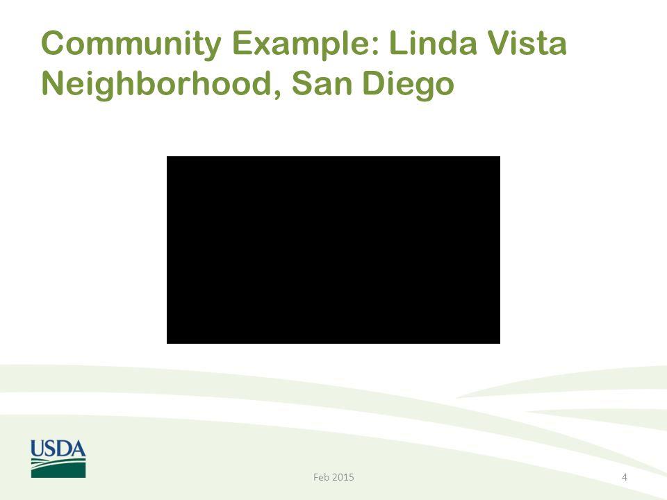 Community Example: Linda Vista Neighborhood, San Diego Feb 20154