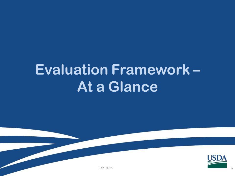 Evaluation Framework – At a Glance Feb 20156