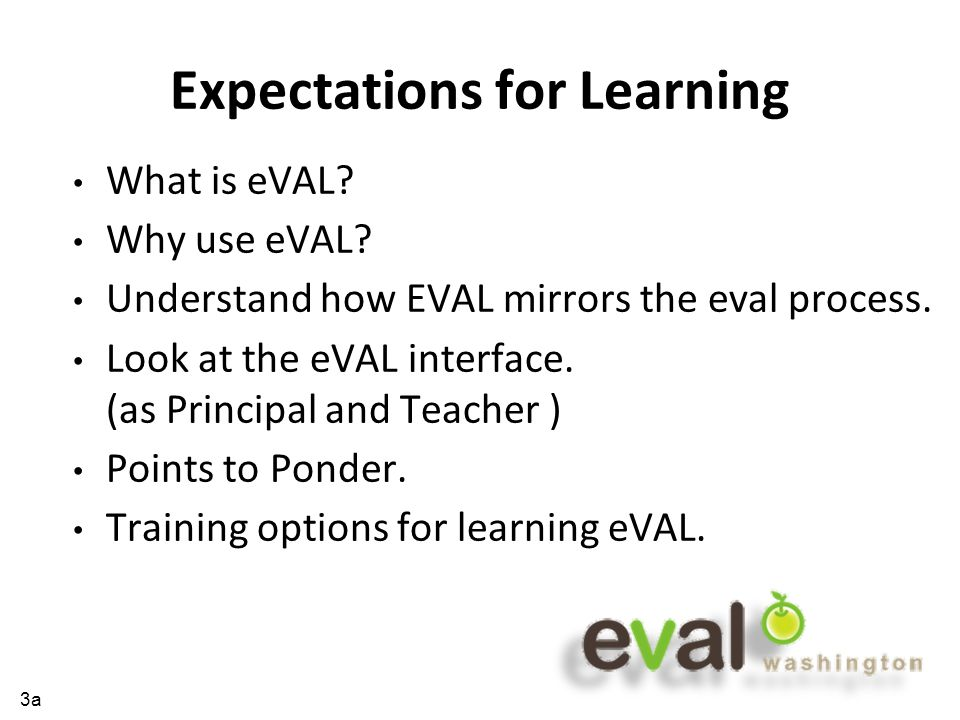 What is eVAL.*eVAL is a web-based tool...
