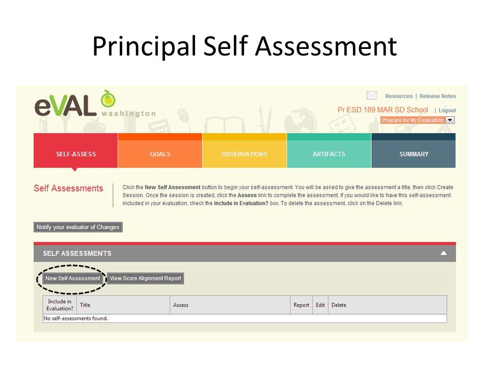 Principal Self Assessment
