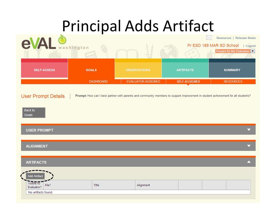 Principal Adds Artifact