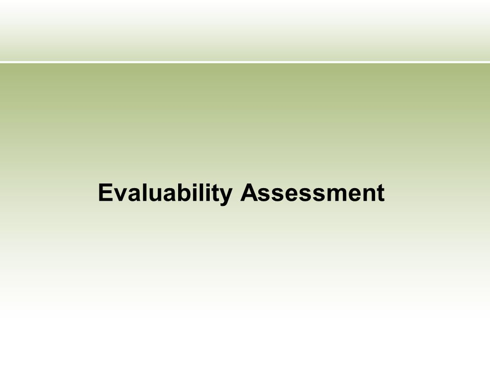 What is 'evaluability'.