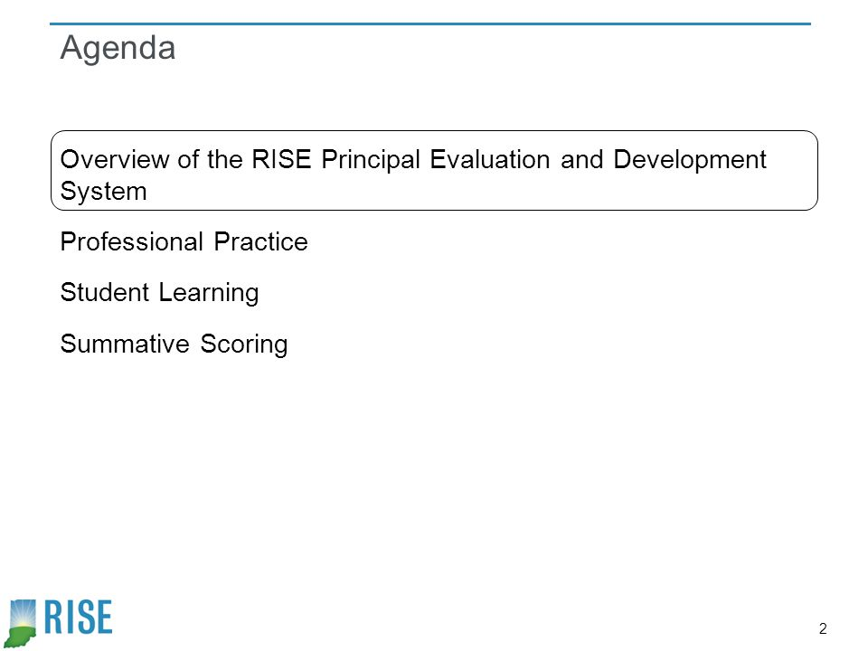 3 What is the purpose of the RISE Principal Evaluation and Development System.