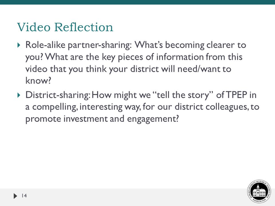  Role-alike partner-sharing: What's becoming clearer to you.