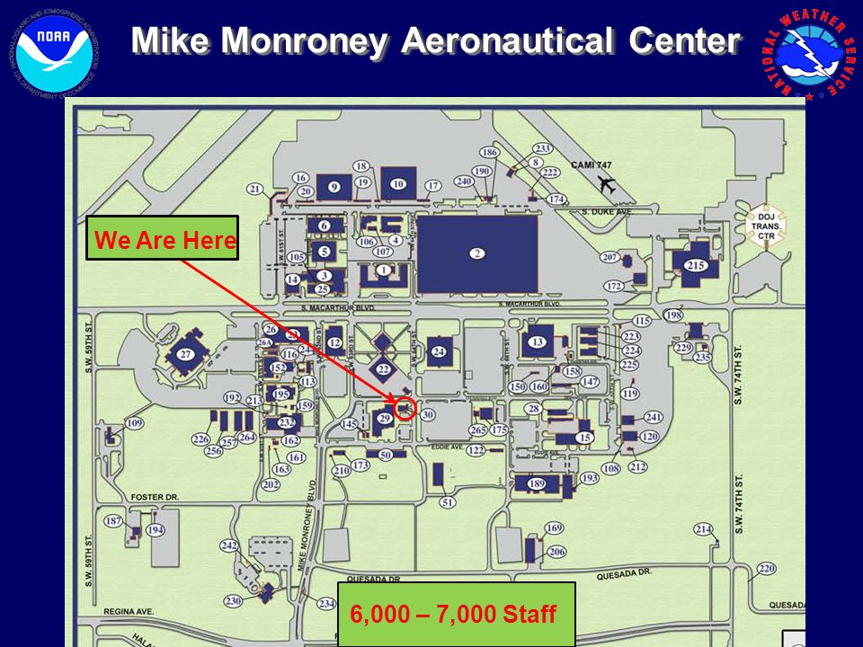 Mike Monroney Aeronautical CenterMike Monroney Aeronautical Center We Are Here 6,000 – 7,000 Staff