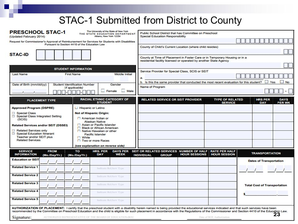 STAC-1 Submitted from District to County 23