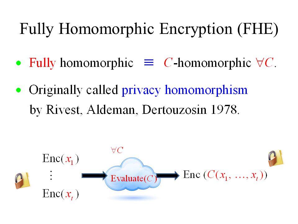 Fully Homomorphic Encryption (FHE)