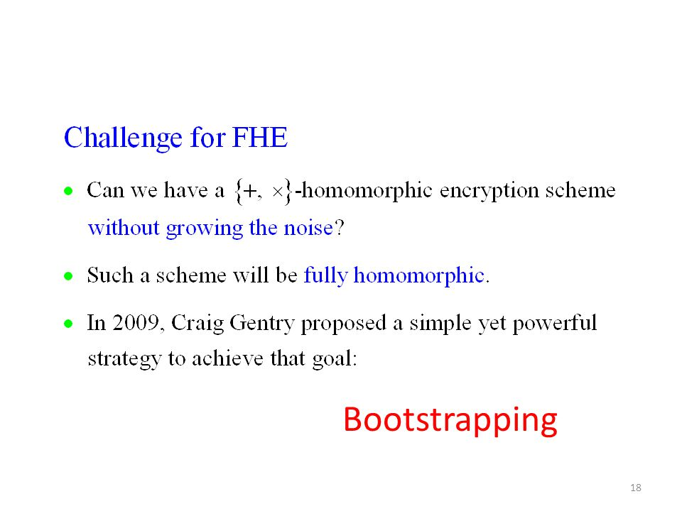 18 Bootstrapping