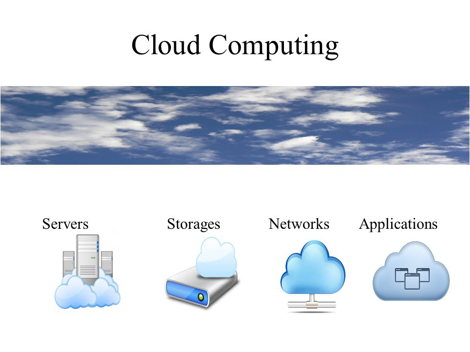 Cloud Computing ServersStoragesNetworksApplications