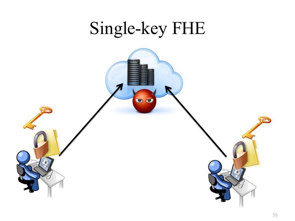 Single-key FHE 50