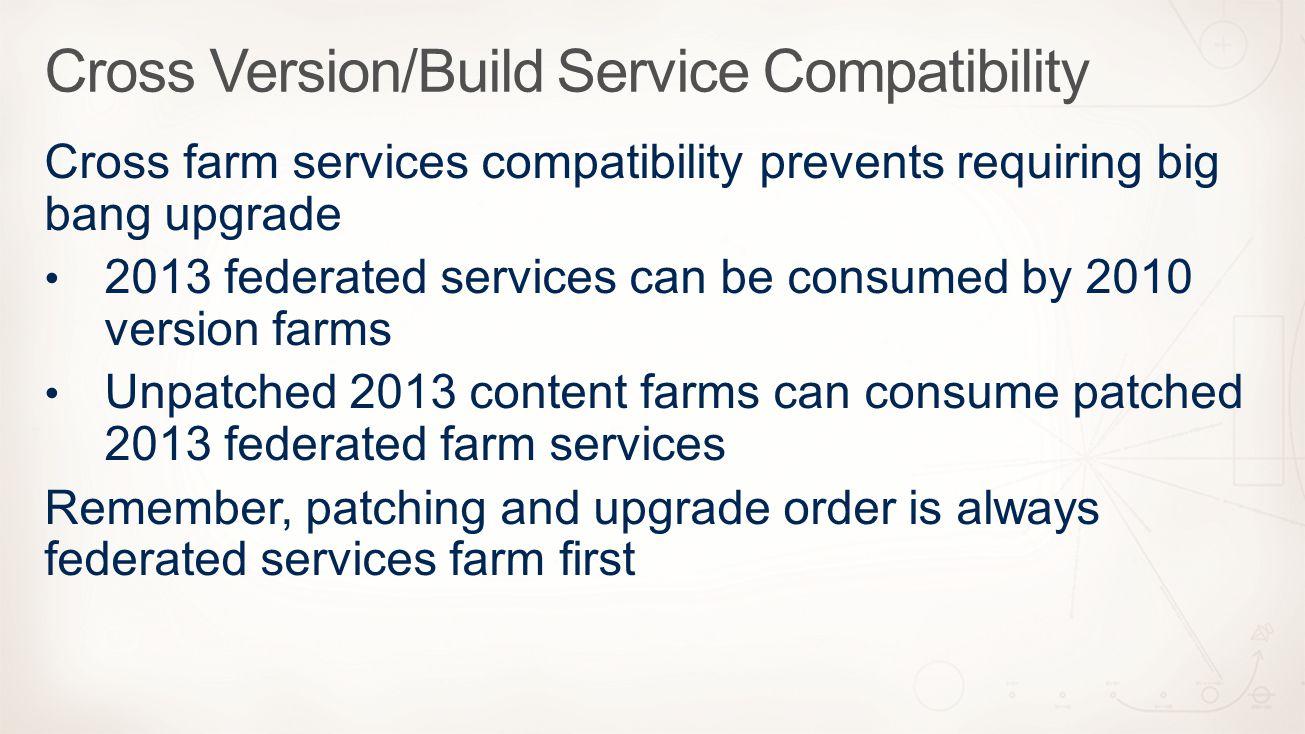 Cross Version/Build Service Compatibility