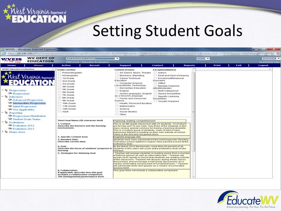Setting Student Goals