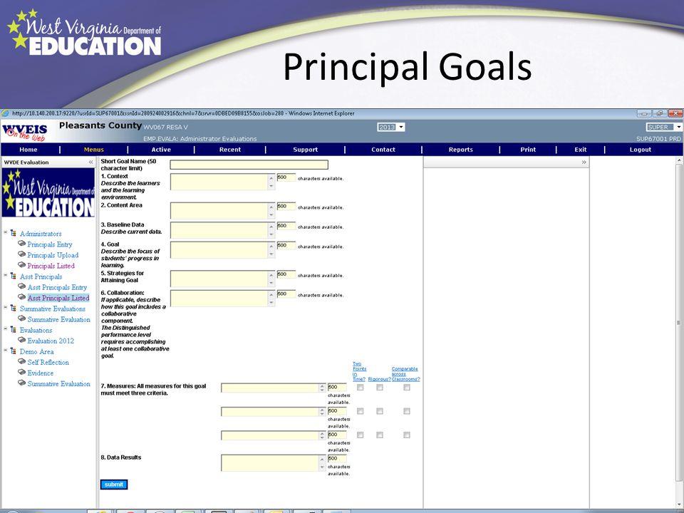 Principal Goals