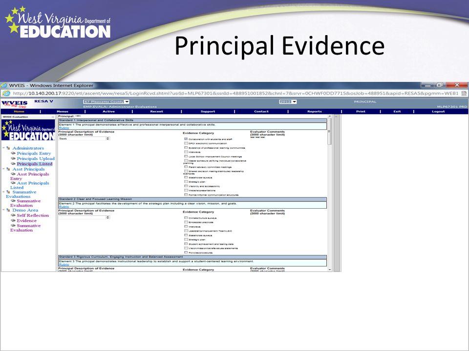 Principal Evidence