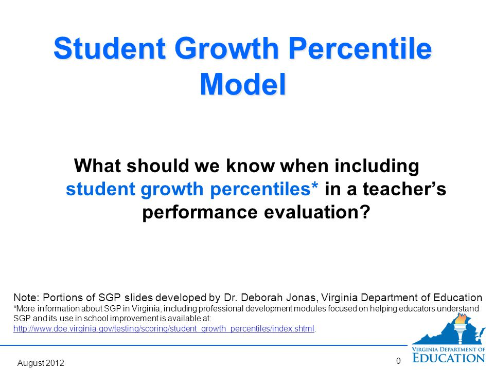 Student Growth Percentile Model Question Answered How much did Miguel improve from sixth-grade to seventh-grade relative to his academic peers (students with the same score in sixth-grade or similar achievement histories).