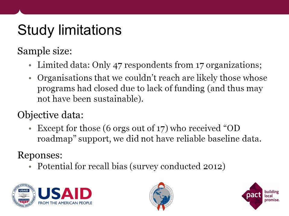 Graduated partners & USAID: contrasting expectations Partners expect of USAID: 1.