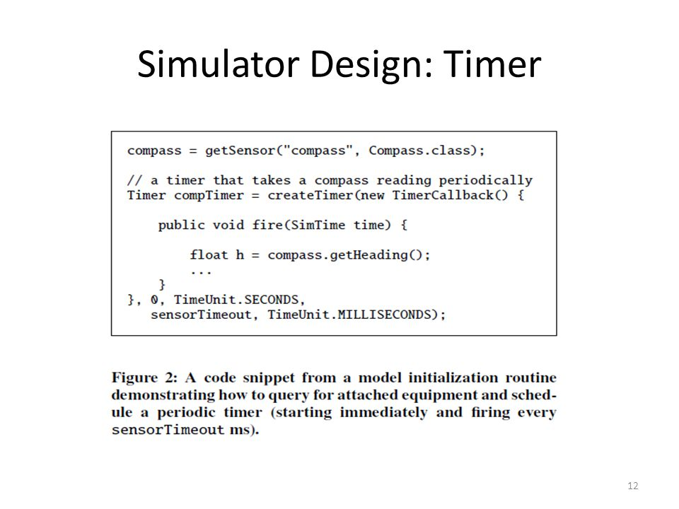 Simulator Design: Timer 12