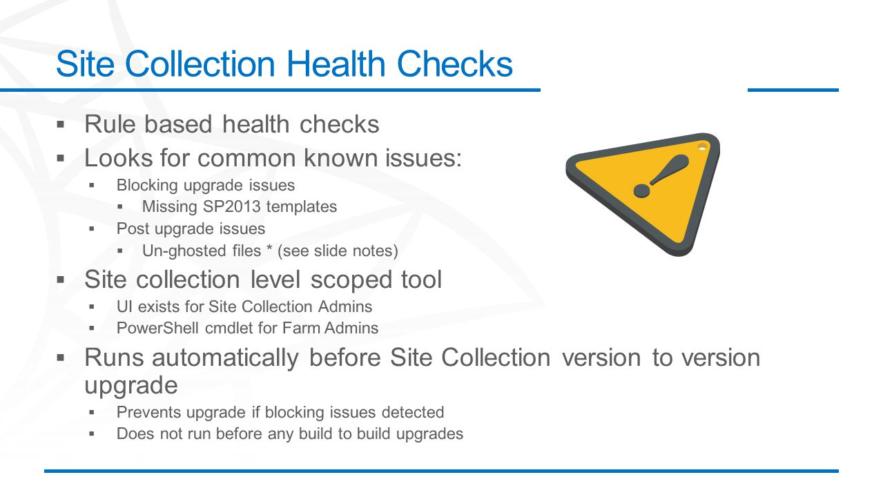 Site Collection Health Checks
