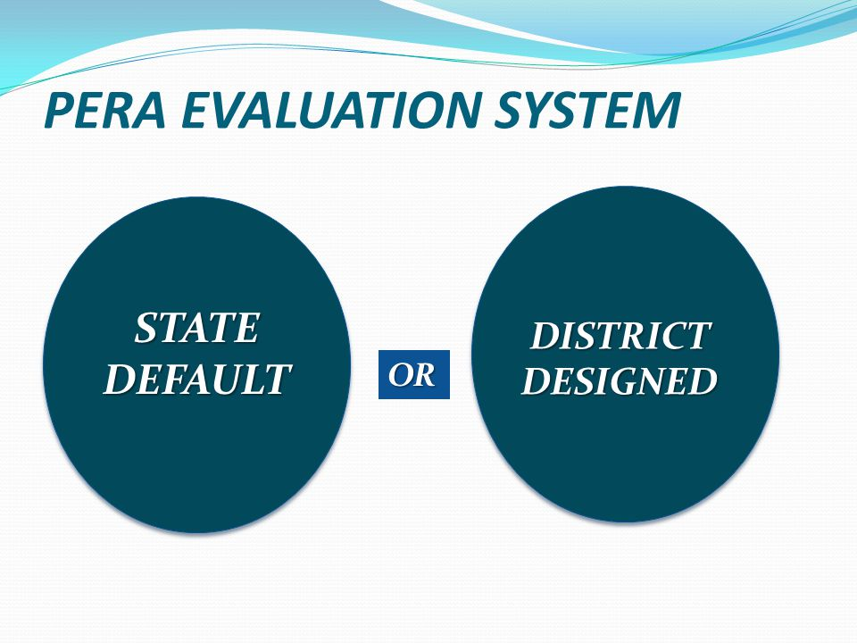 PERA EVALUATION SYSTEM STATE DEFAULT DISTRICT DESIGNED OR