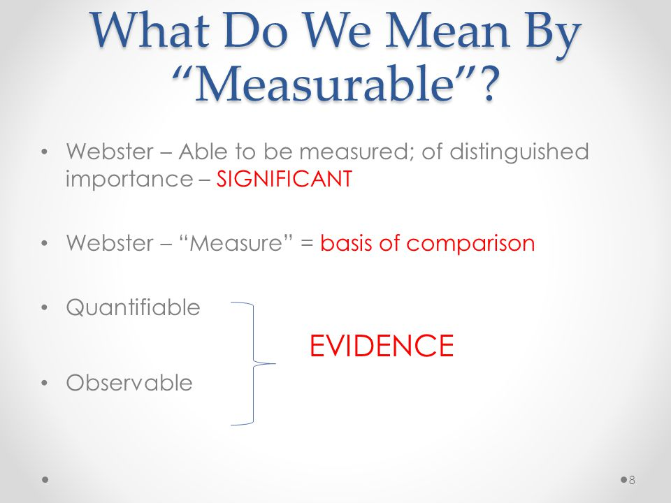 What Do We Mean By Measurable .