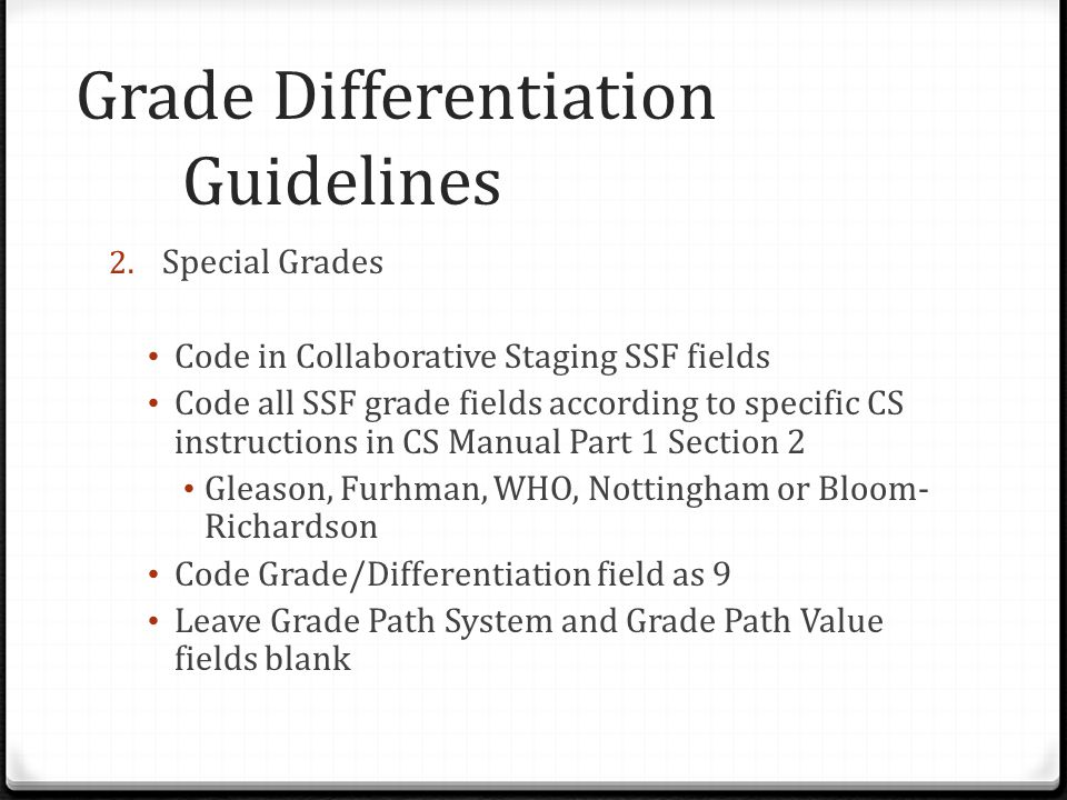 Grade Differentiation Guidelines 2.