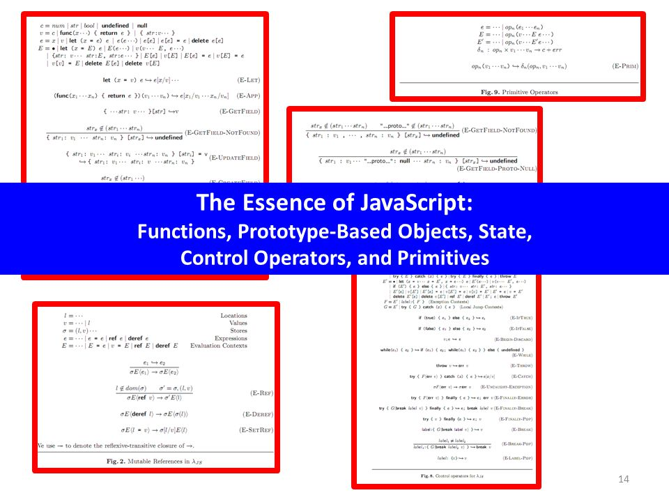 14 The Essence of JavaScript: Functions, Prototype-Based Objects, State, Control Operators, and Primitives